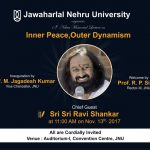 "Sri Sri Ravishankar in JNU : Lecture on ""Inner Peace, Outer Dynamism"""