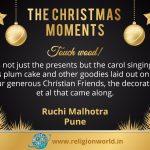 """Christmas Moments"" : Ruchi Malhotra"