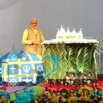 BAPS Hindu Temple in Abu Dhabi : PM Narendra Modi unveils model of the Hindu temple : By BAPS Swaminarayabn Sanstha