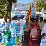 ब्रह्माकुमारी संगठन और स्कूली विद्यार्थियों ने निकाली पानी बचाओ जागरूकता रैली