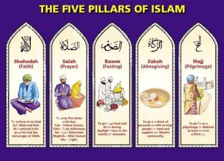 There are five pillars of Islam