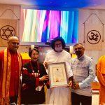"Acharya Lokesh has been Honoured by ""Lotus of World Peace"" Award"