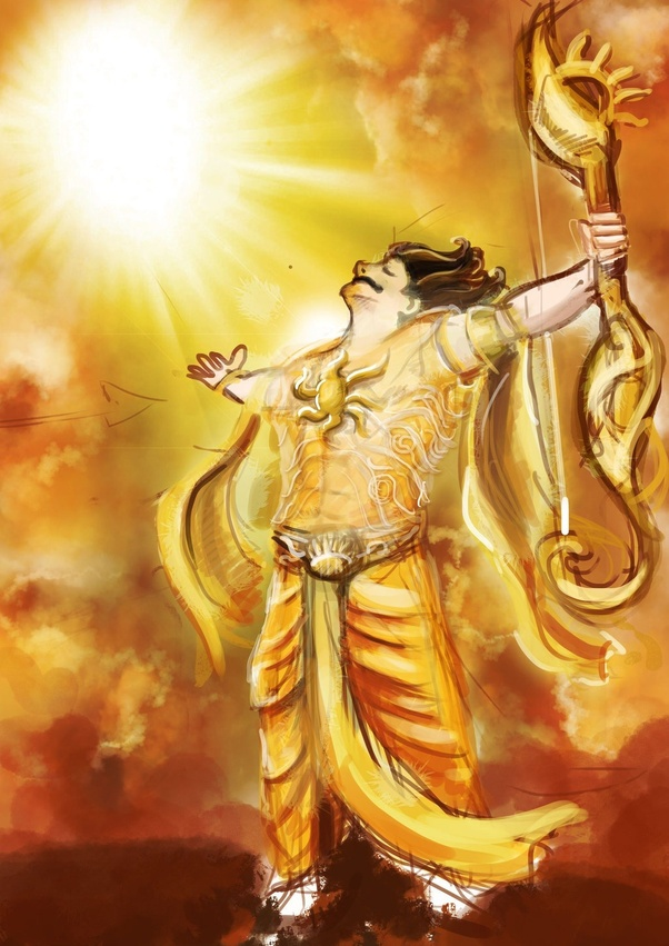 दानवीर कर्ण ने शुरू की सूर्य पूजा